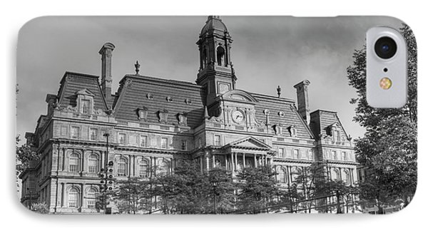 Montreal City Hall  Montreal, Quebec IPhone Case by David Chapman