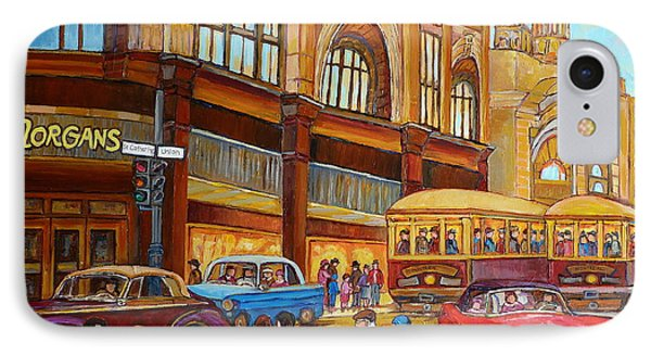 Montreal Memories Streetcars Morgan S Department Store At