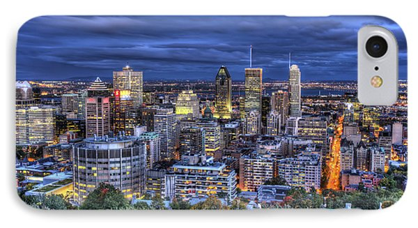 IPhone Case featuring the photograph Montreal Skyline At Dusk by Shawn Everhart