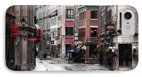 Montreal Street Scene Phone Case by John Rizzuto