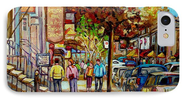 Montreal Streetscenes By Cityscene Artist Carole Spandau Over 500 Montreal Canvas Prints To Choose  IPhone Case by Carole Spandau