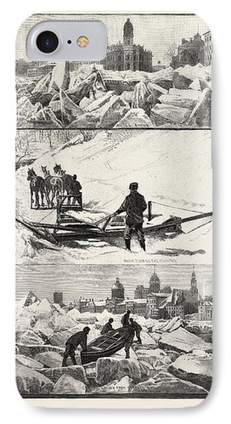 Montreal Winter Scenes, Canada IPhone Case by Canadian School