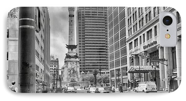 Monument Circle IPhone Case by Howard Salmon