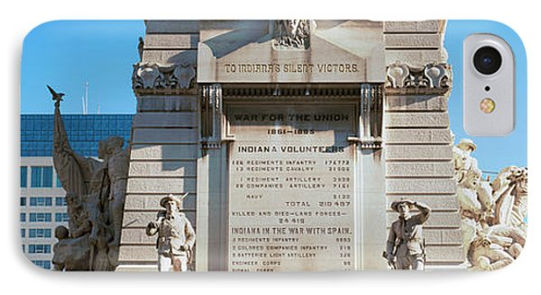 Monument In A City, Soldiers IPhone Case by Panoramic Images