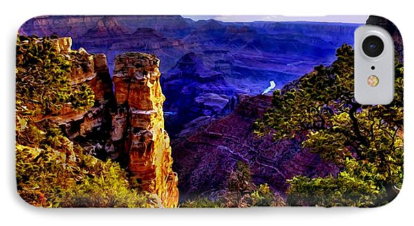 Monument To Grand Canyon  Phone Case by Bob and Nadine Johnston
