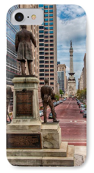 Monument To Monument Indianapolis IPhone Case