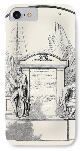 Monument To Sir John Franklin And His Companions IPhone Case by English School