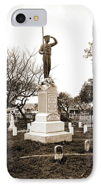 Monument To The Maine Soldiers, Key West, Fla, Maine IPhone Case by Litz Collection