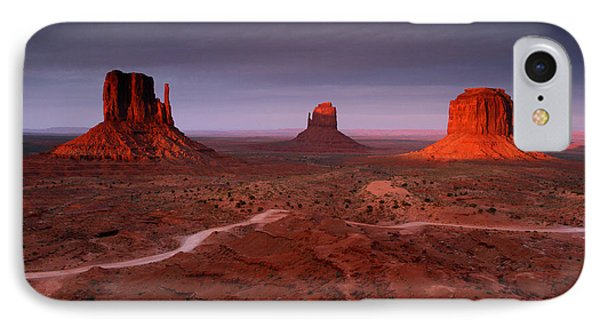 Monument Valley 1 IPhone Case by Butch Lombardi