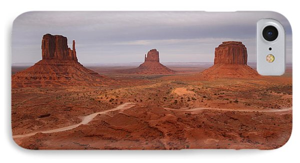 Monument Valley 3 IPhone Case by Butch Lombardi