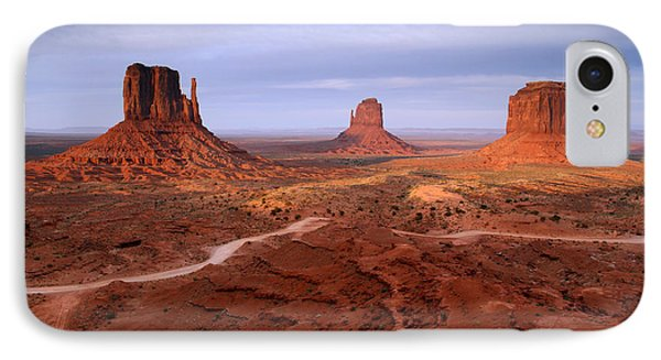 Monument Valley 4 IPhone Case by Butch Lombardi