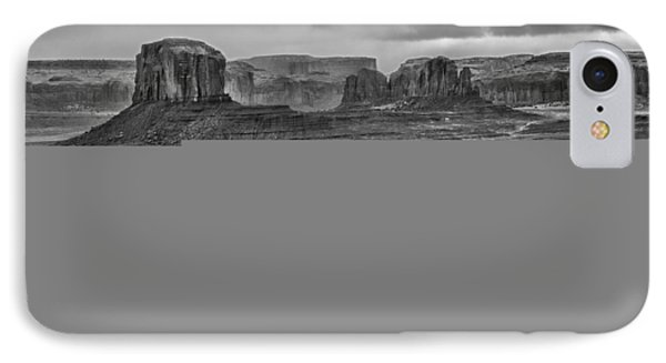 IPhone Case featuring the photograph Monument Valley 4 Bw by Ron White