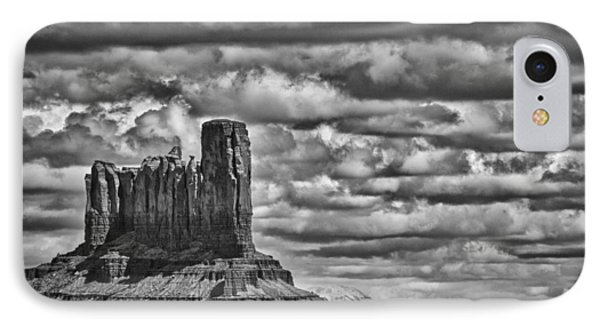 IPhone Case featuring the photograph Monument Valley 6 Bw by Ron White