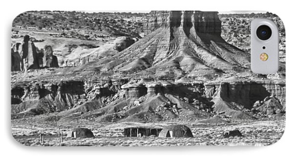 IPhone Case featuring the photograph Monument Valley 7 Bw by Ron White