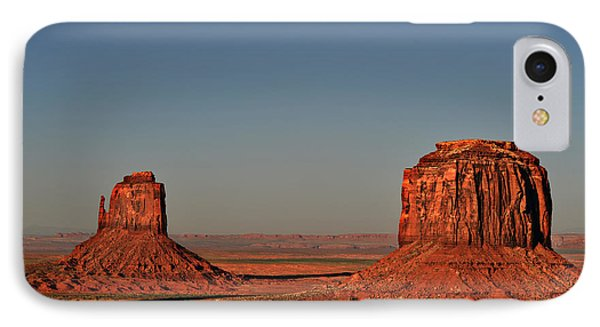 Monument Valley - East Mitten And Merrick Butte Phone Case by Christine Till