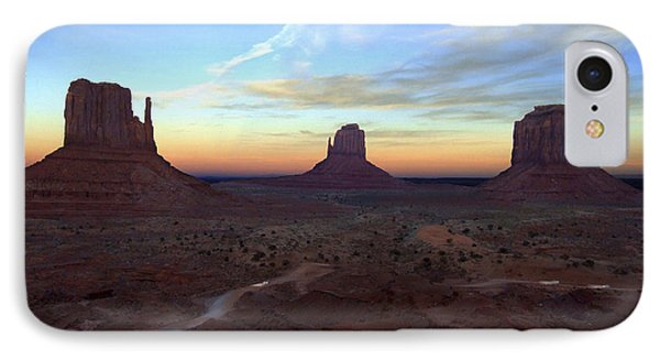 Monument Valley Just After Sunset Phone Case by Mike McGlothlen