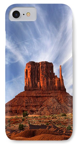 Monument Valley - Left Mitten 2 Phone Case by Mike McGlothlen