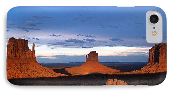 IPhone Case featuring the photograph Monument Valley @ Sunset 2 by Jeff Brunton