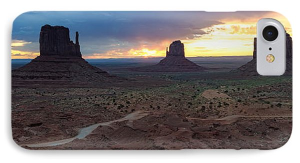 Monument Valley Navajo Tribal Park An Image Worth More Than A Thousand Words IPhone Case by Silvio Ligutti
