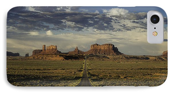 Monument Valley Panorama Phone Case by Steve Gadomski