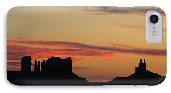 IPhone Case featuring the photograph Monument Valley Sunset 1 by Jeff Brunton