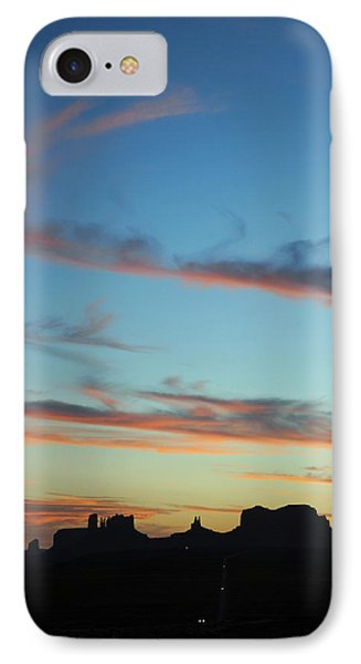 IPhone Case featuring the photograph Monument Valley Sunset 3 by Jeff Brunton