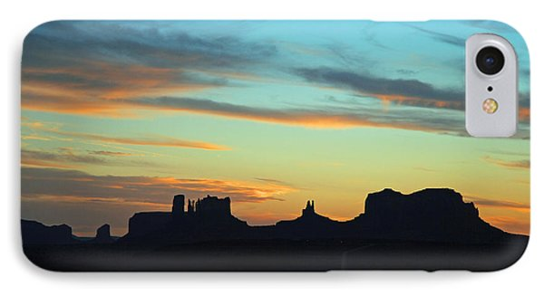 IPhone Case featuring the photograph Monument Valley Sunset 4  by Jeff Brunton