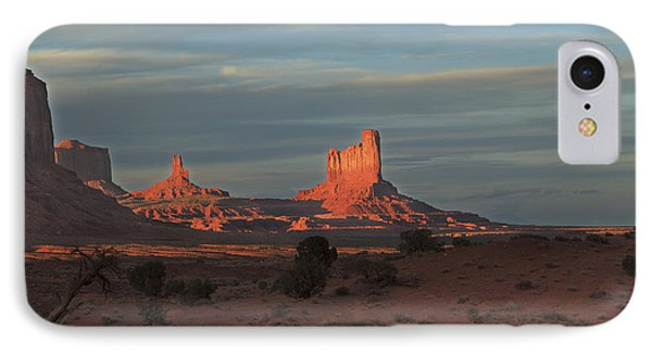 IPhone Case featuring the photograph Monument Valley Sunset by Alan Vance Ley