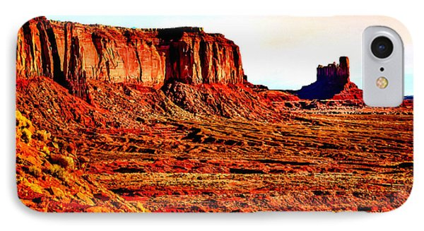 Monument Valley Sunset By Bob Johnston Phone Case by Bob and Nadine Johnston