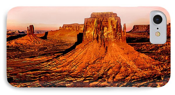 Monument Valley Sunset IPhone Case by Bob and Nadine Johnston