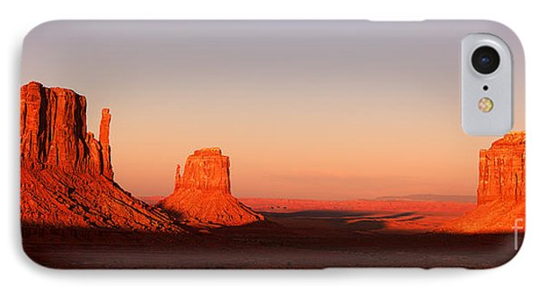 Monument Valley Sunset Pano IPhone Case by Jane Rix
