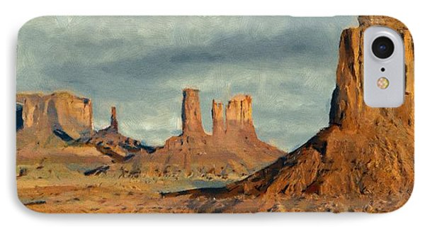IPhone Case featuring the painting Monumental by Jeff Kolker