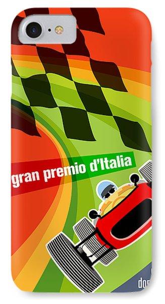 Monza Grand Prix 1966 IPhone Case by Georgia Fowler