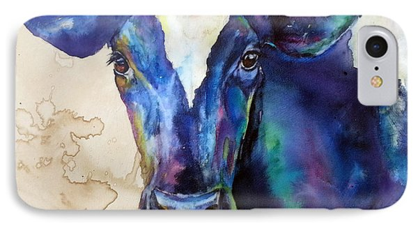 IPhone Case featuring the painting Moo by Christy  Freeman