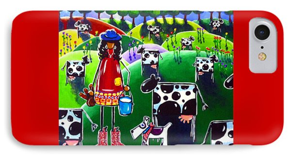 Moo Cow Farm Phone Case by Jackie Carpenter