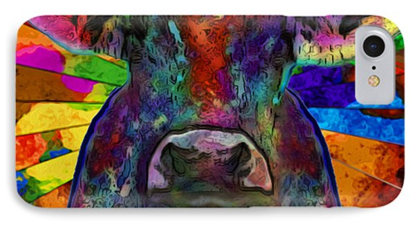 Moo Cow With Color IPhone Case
