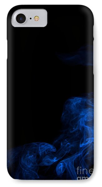 Abstract Vertical Paris Blue Mood Colored Smoke Art 02 IPhone Case by Alexandra K