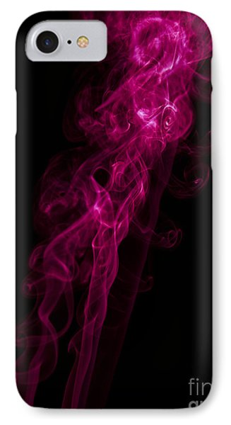 Mood Colored Abstract Vertical Purple Smoke Wall Art 02 IPhone Case by Alexandra K