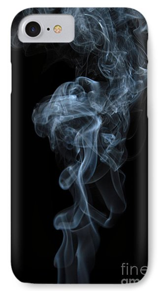 Abstract Vertical White Mood Colored Smoke Wall Art 03 IPhone Case by Alexandra K