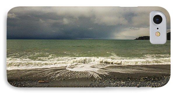 Moody Swirl French Beach IPhone Case by Roxy Hurtubise