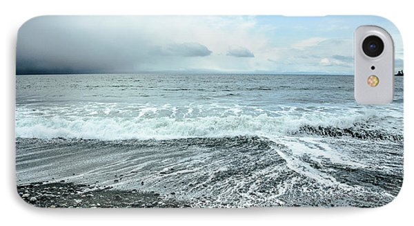 Moody Waves French Beach IPhone Case by Roxy Hurtubise