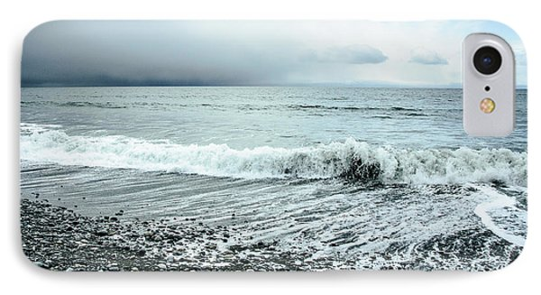 Moody Shoreline French Beach IPhone Case by Roxy Hurtubise