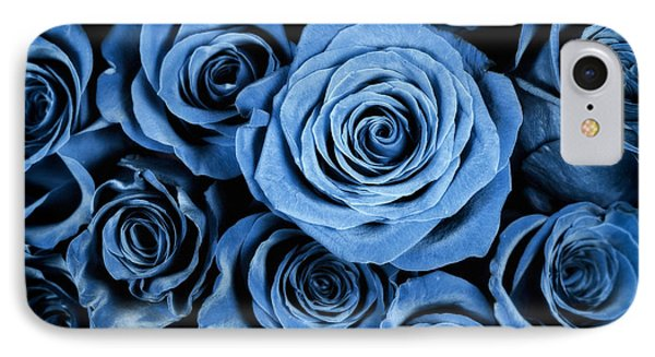 Moody Blue Rose Bouquet IPhone Case by Adam Romanowicz