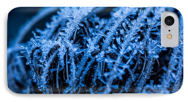 Moody In Blue IPhone Case by Julie Clements