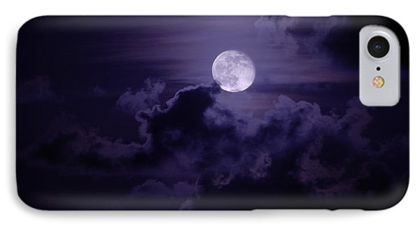 Shore iPhone 7 Case - Moody Moon by Chad Dutson