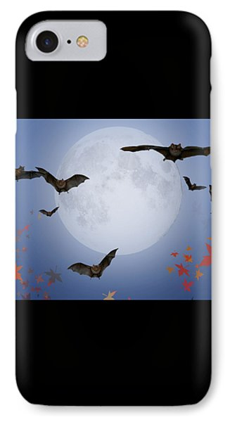 Moon And Bats Phone Case by Melissa A Benson