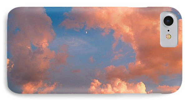 IPhone Case featuring the photograph Moon And Clouds by Joan Hartenstein