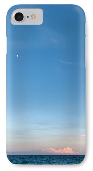 Moon And Pink Cloud Phone Case by Michelle Wiarda