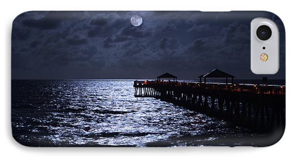 Moon And Sea IPhone Case by Laura Fasulo