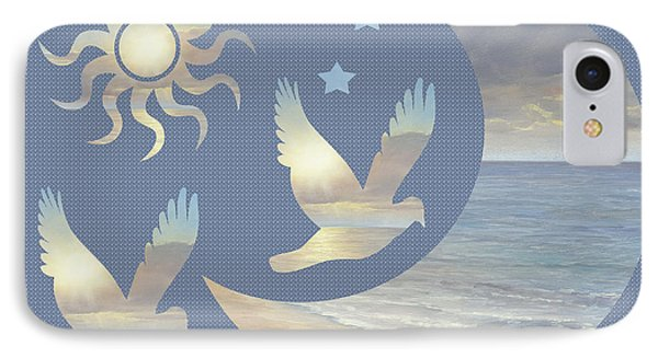 Moon And Stars Phone Case by Diane Romanello